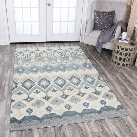 Rizzy Home Area Rugs Resonant Area Rugs RS919A Natural Wool Hand Tufted 5 Sizes