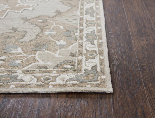 Rizzy Home Area Rugs Resonant Area Rugs RS931A Tan Wool Hand Tufted 5 Sizes