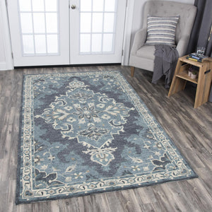 Rizzy Home Area Rugs Resonant Area Rugs RS932A Gray Wool Hand Tufted 5 Sizes