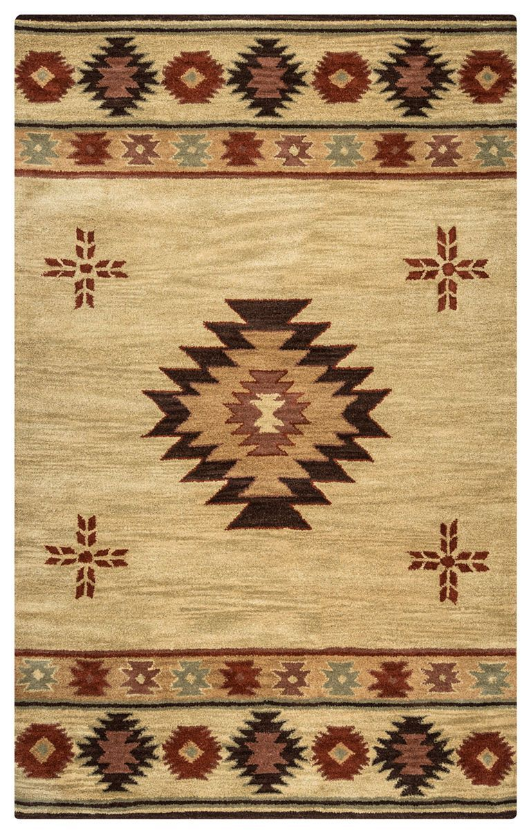 Rizzy Home Area Rugs Southwest Area Rugs SU-2007 Ivory Hand Tufted 100% Wool From India