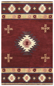 Rizzy Home Area Rugs SouthWest Area Rugs SU-2009 Red Hand Tufted 100% Wool From India