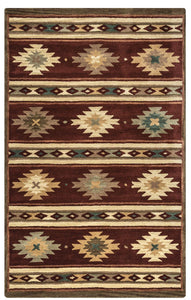 Rizzy Home Area Rugs SouthWest Area Rugs SU-2012 Burgundy Hand Tufted 100% Wool From India