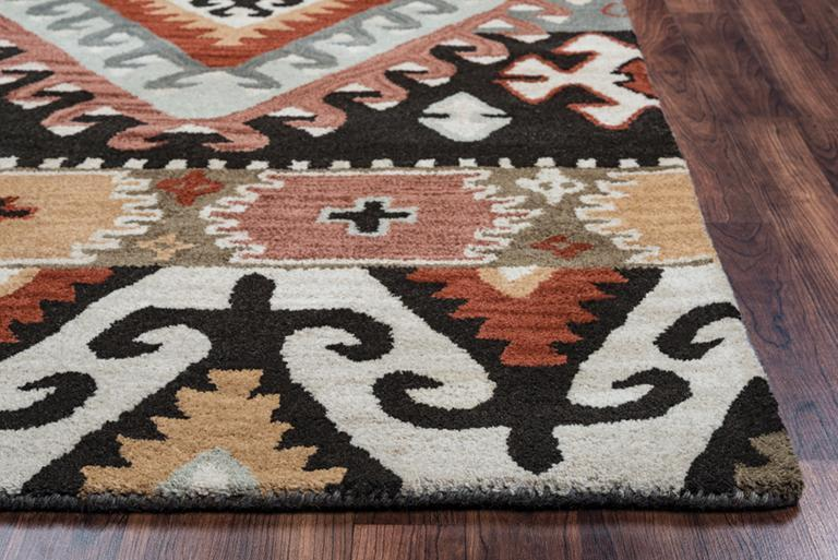 Rizzy Home Area Rugs Southwest Area Rugs SU-8104 Multi Hand Tufted 100% Wool From India