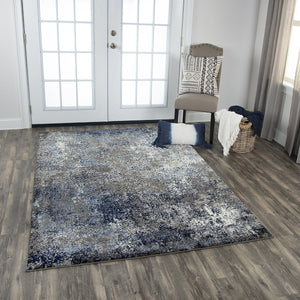Rizzy Home Area Rugs Valencia Area Rugs VCA104 Blue In Custom Sizes At Affordable Prices