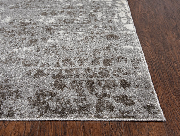 Rizzy Home Area Rugs Valencia Area Rugs VCA110 Grey In Custom Sizes At Affordable Prices