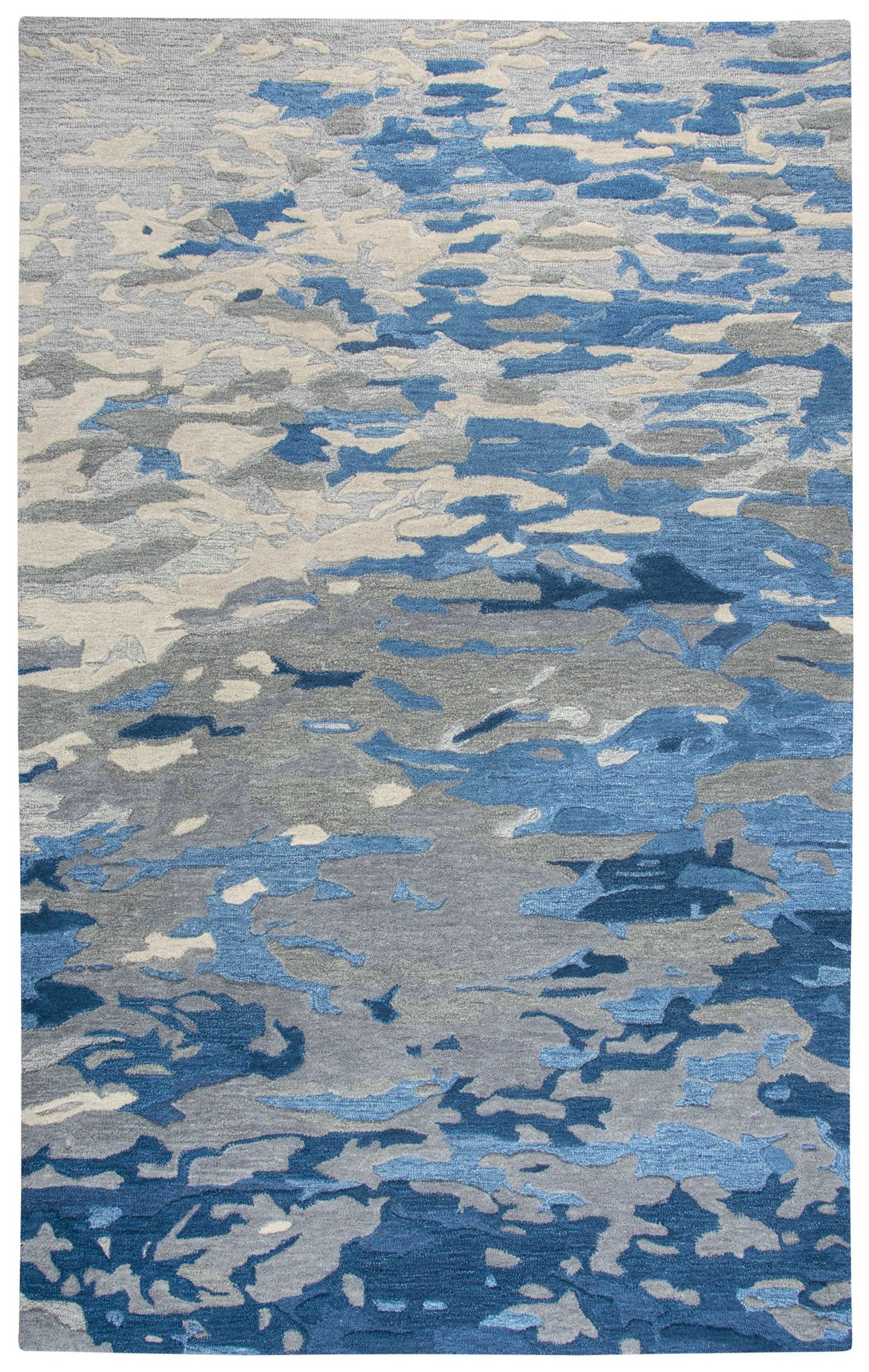 Rizzy Home Area Rugs Vogue Area Rugs  VOG108 Blue Wool Contemporary Design in 5 Sizes