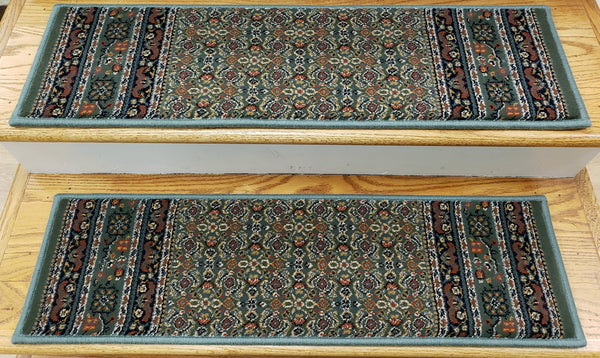 Rug Depot  31 In x 9 In-Sold Individually Premium Stair Treads Palazzo Green 31 In x 9 In Poly USA