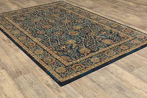 Rug Depot Home Ankara Area Rug  501K Navy in 6 Sizes 100% Poly By Oriental Weavers