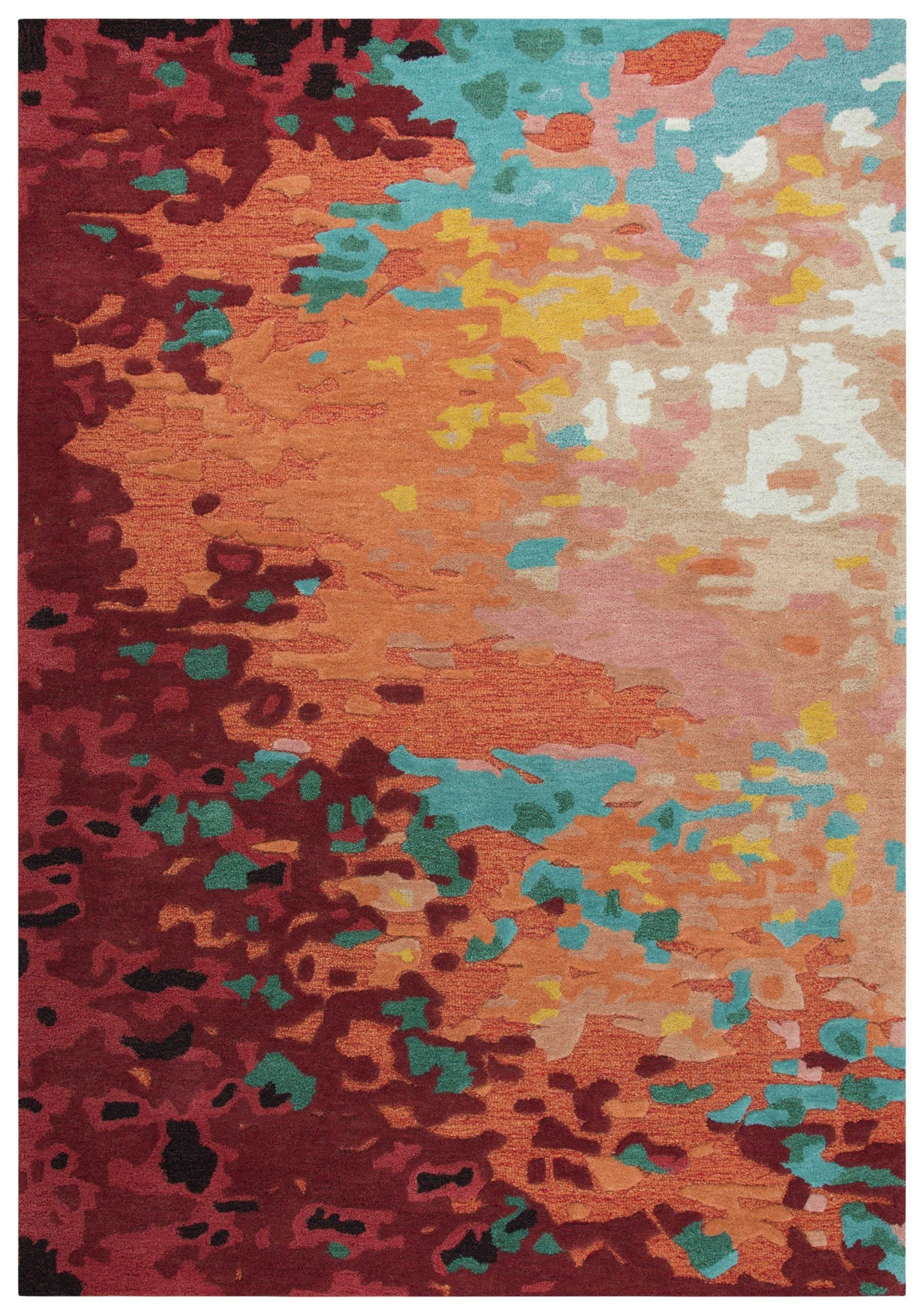 Rug Depot Home Area Rugs Connie Post Area Rugs CNP101Rust Modern 100% Wool With Unique Shapes