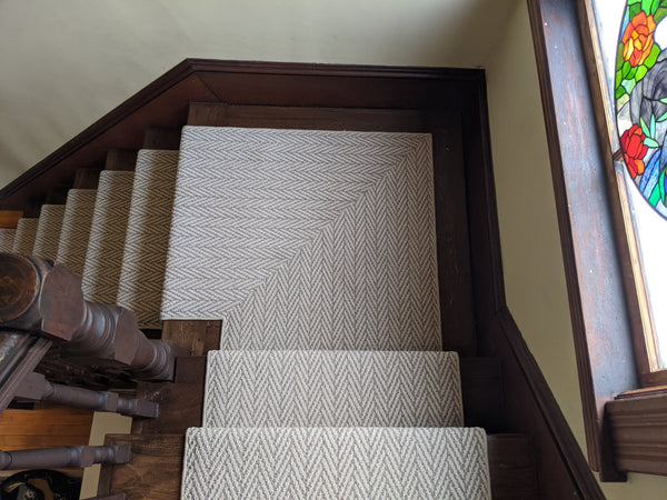 Rug Depot Home Carpet Only Natural Herringbone Plaza Taupe Z6877-752  Area Rugs and Stair Runners
