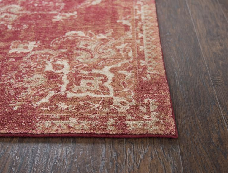 Rug Depot Home Gossamer Area Rugs By RizzyHome GS6147 Red 100% Wool From India