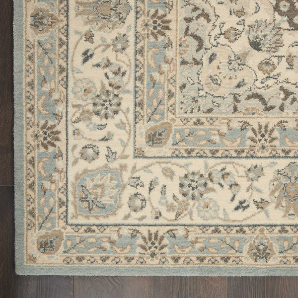 Rug Depot Home Living Treasures Area Rugs LI-15 Aqua 100% Wool in 11 Sizes