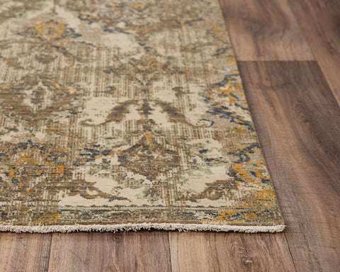 Rug Depot Home Platinum Area Rugs PNM101 Beige By RizzyHome Wool From India