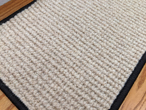 Rug Depot Home Softer Than Sisal Wool Stair Treads 26in x 9in with Landing Rug