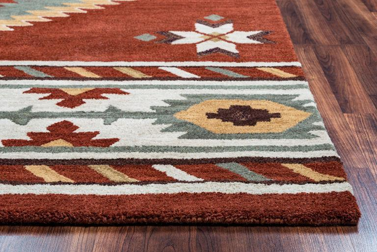 Rug Depot Home Southwest Area Rugs SU-1822 Red Hand Tufted 100% Wool From India