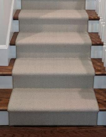 Rug Depot Home Stair Runners Contact Us For A Quote on Your Project Peter Island Grey PTR-75 Custom Installation By Rug Depot Home