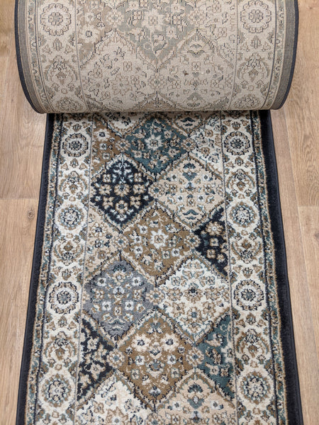 Rug Depot Home Stair Runners Yazd 8471-910 Grey Stair Runner and Matching Area Rugs