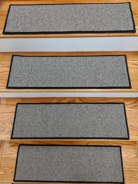 Rug Depot Home Stair Treads Premium Stair Treads Wool Needlepoint 26in x9in with many options