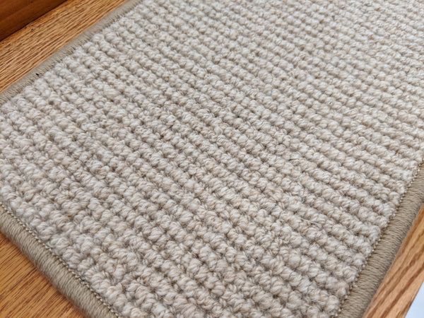 Rug Depot Home Stair Treads Softer Than Sisal Wool Stair Treads 26in x 9in with Landing Rug