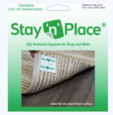 Rug Depot Home Stair Treads Stay N Place Tabs-Pack of 4 Stair Treads Grey 79138-7696 26 and 31 inch x 9in with More Options