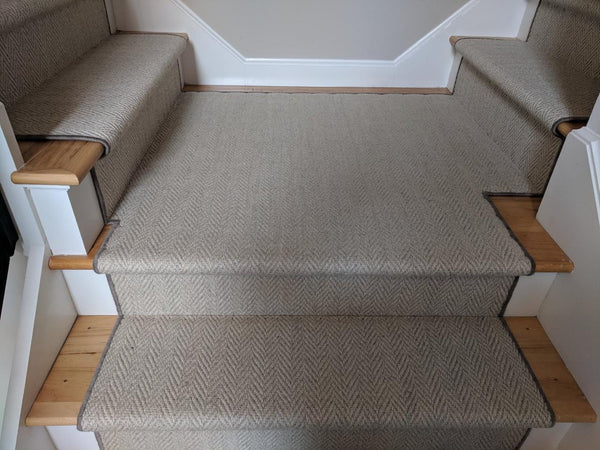 RugDepot Stair Runner Heatherly Cashmere Wool Herringbone Project-Call For Quote
