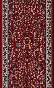 RunnerUSA Stair Runner Jewel Red Stair Runner 4060 26in 163140  Sold By the Foot