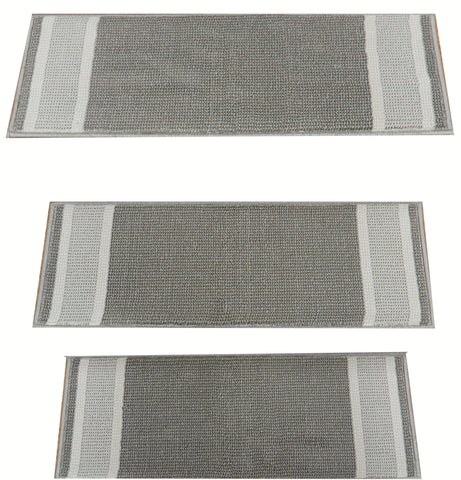 StairTreadsUSA Stair Treads Stair Tread Grey 1234-911 26in x 9in Set of 13 With Non Slip Pads