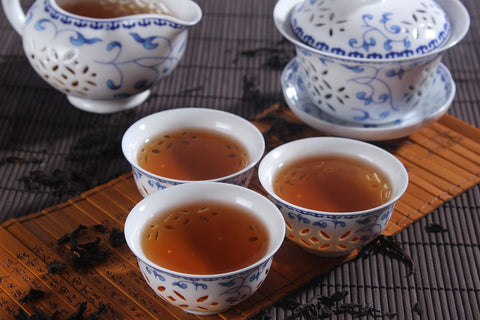 Prepared Oolong Tea Served in Cup