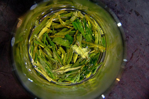 Yellow tea leaves sweltering