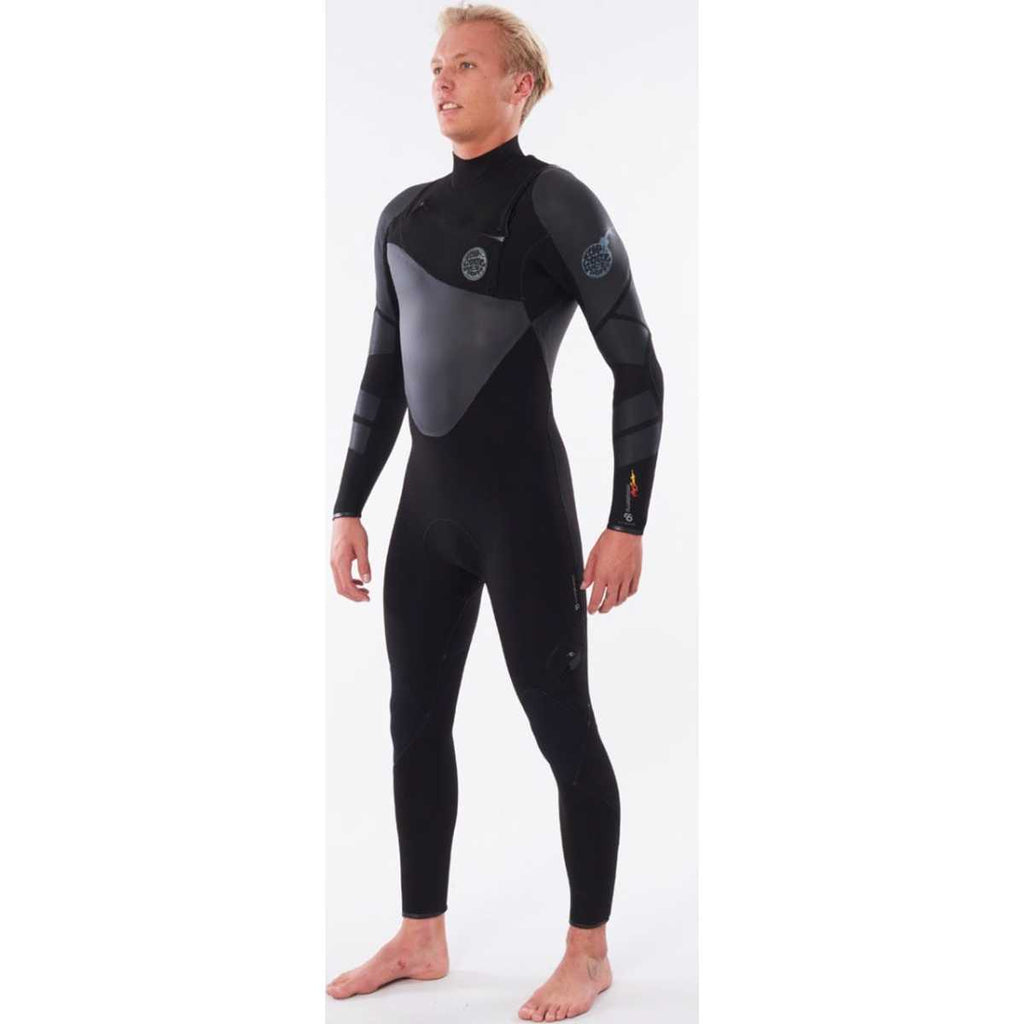 Flashbomb Heatseeker 4/3 Chest Zip E6 Wetsuit in Black
