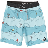 BOYS ONE FISH TWO FISH LAYBACK BOARDSHORT