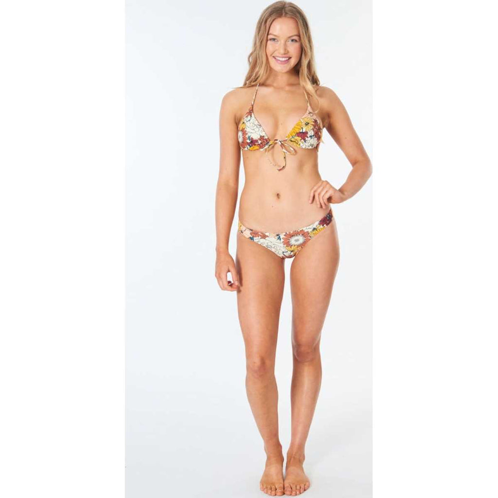 Golden Days Tri Bikini Top in Cream