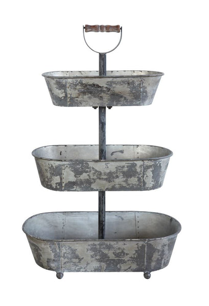 Farmhouse 3 Tier Metal Bucket