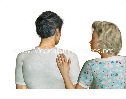 Nurse Assisting an Elderly Patient – Pack of 3 Images in the Sequence