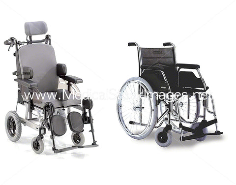 Two Different Wheelchair Styles