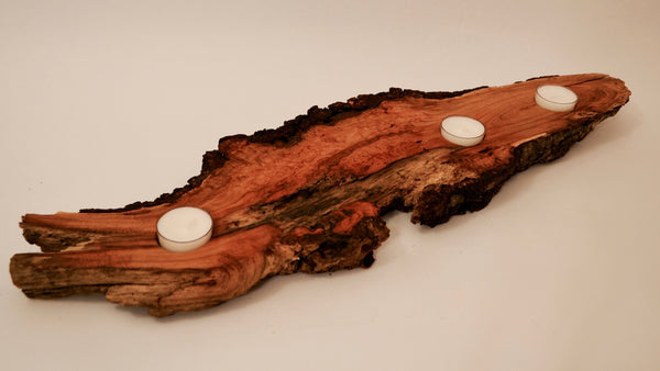 Cherry Burl Tealight Holder