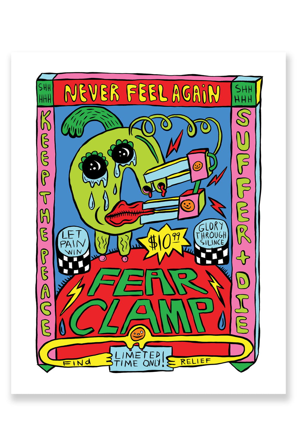 FEAR CLAMP 8x10 PRINT : LIMITED EDITION