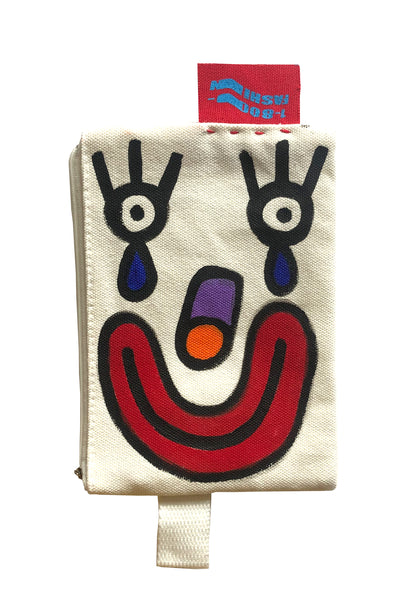 1-800-FASHIN :: HAND PAINTED ZIPPER POUCH #2