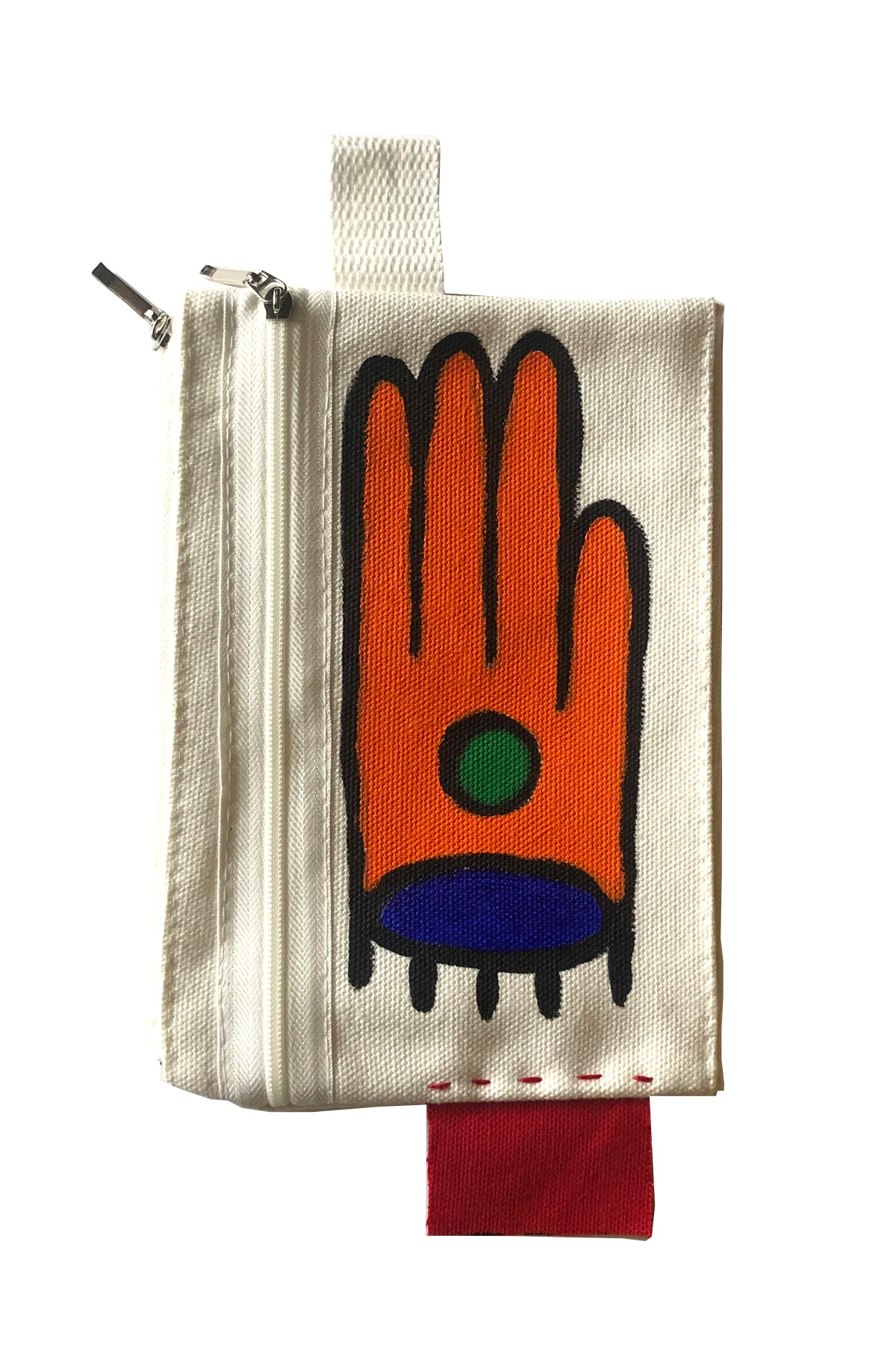 𝙏𝙀𝘼𝙍𝙎 𝙄𝙉 𝙔𝙊𝙐𝙍 𝙃𝘼𝙉𝘿𝙎 :: 1-800-FASHIN :: HAND PAINTED ZIPPER POUCH