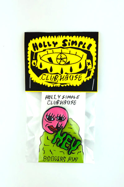 HEY BOOGERS ENAMEL PIN