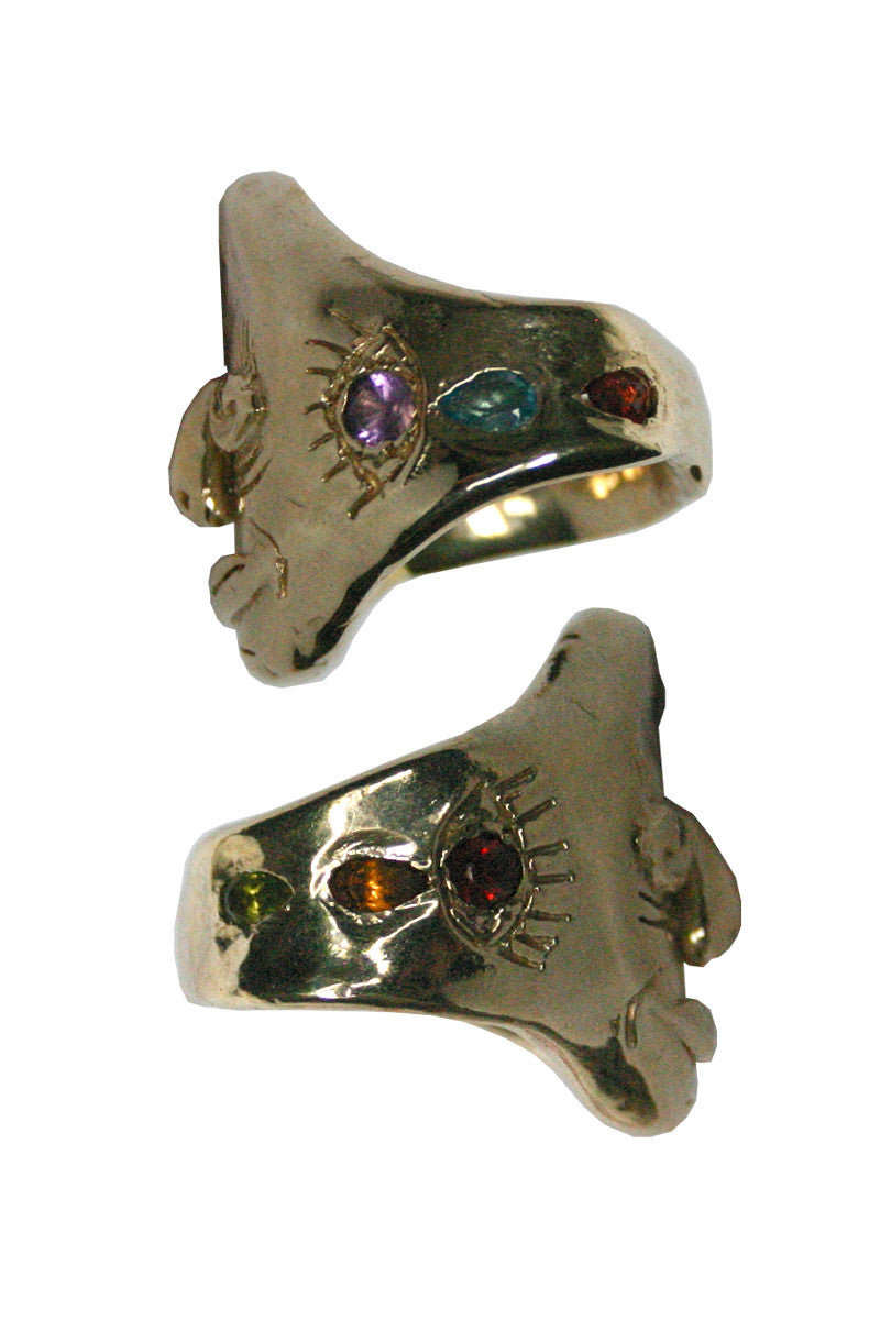 Third Eye Knuckle Duster Ring - MULTI