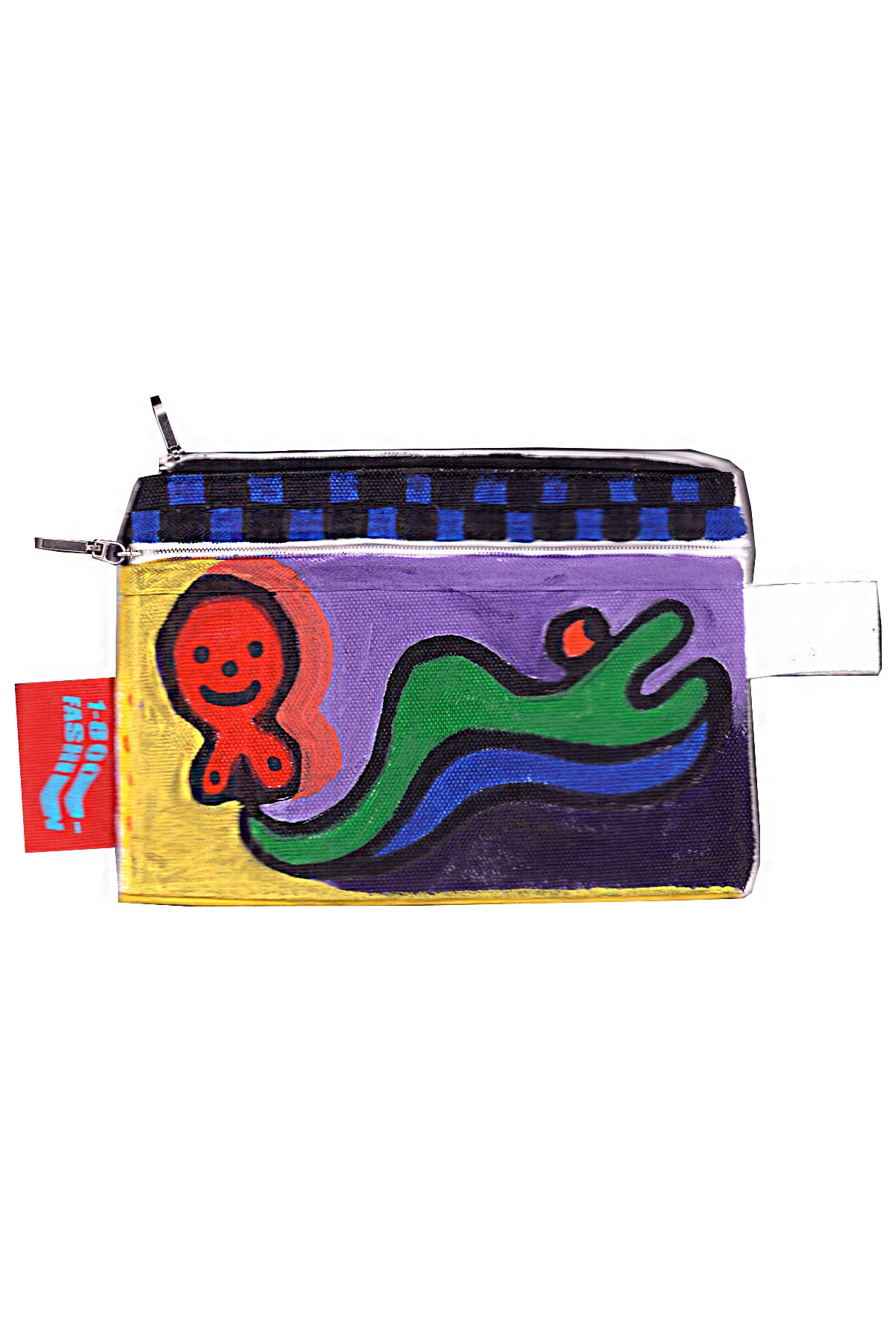 1-800-FASHIN :: HAND PAINTED ZIPPER STASH BAG #1
