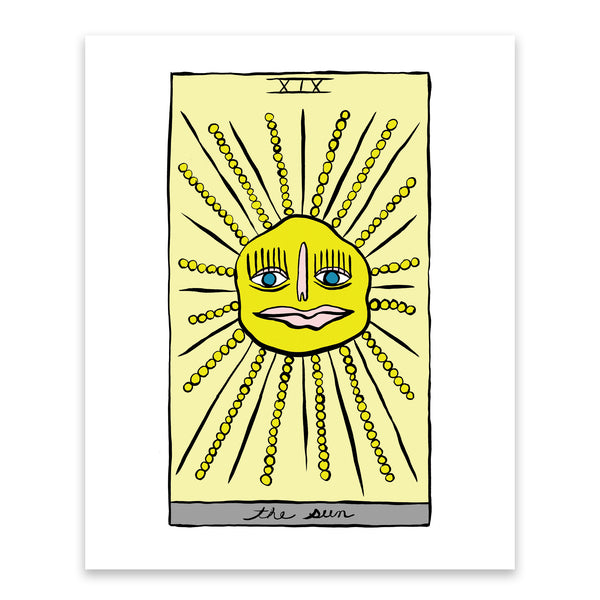 HOLLY SIMPLE TAROT | THE SUN | 8 X 10 PRINT