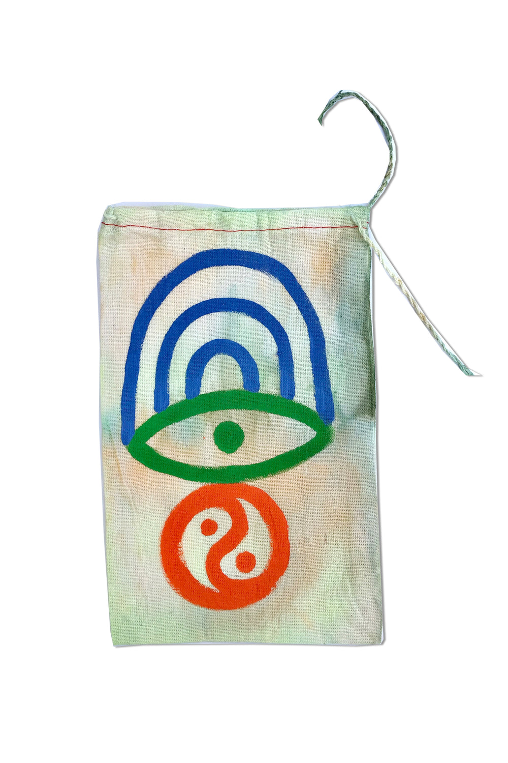 TIE DYE DRAWSTRING BAG - MULTI (SMALL)