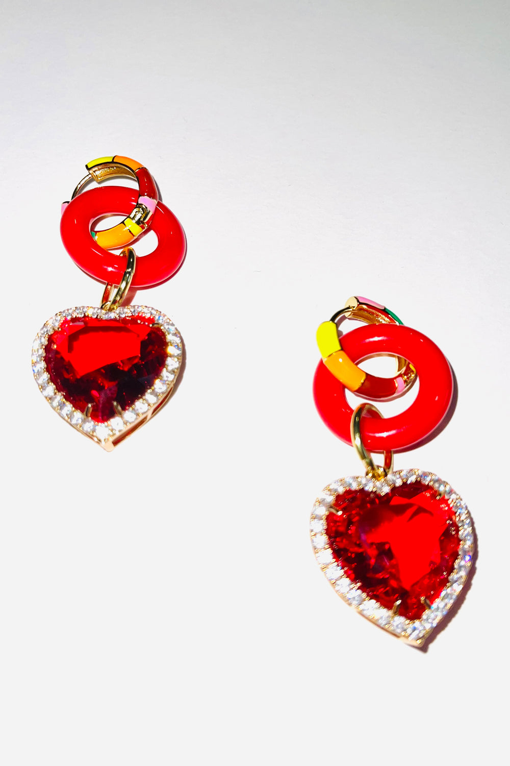 BIG RED CANDY EARRINGS