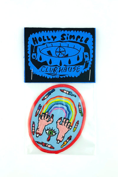 HOLLY SIMPLE BLEEDING RAINBOW PATCH