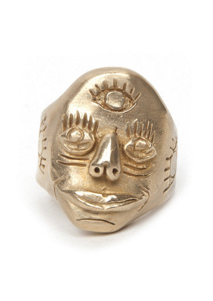 Third Eye Knuckle Duster Ring - Brass