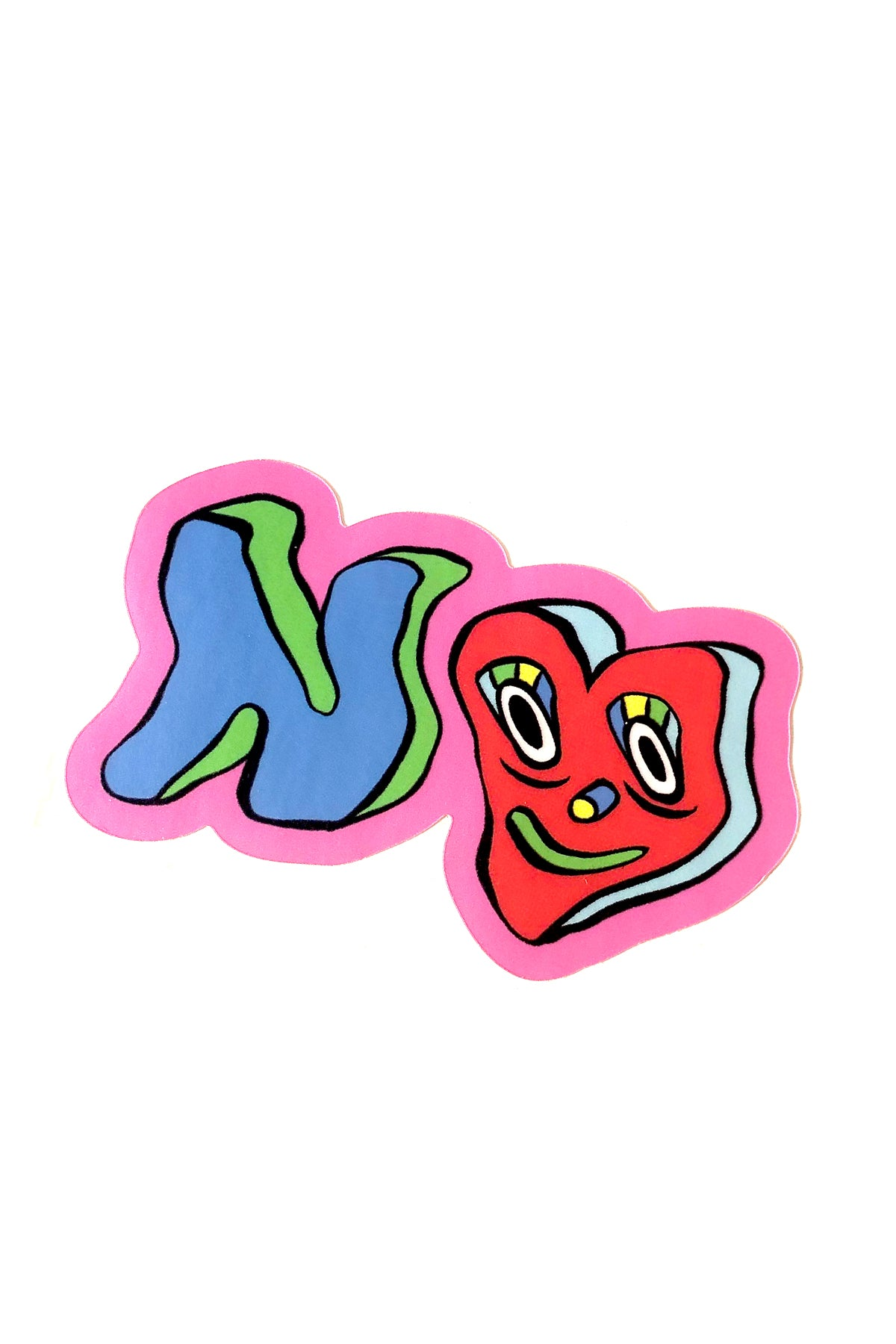 "♥ ""NO"" ♥ STICKER"