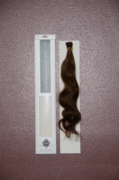 Natural Wave Colored Brazilian Keratin I-tip Human Hair Extensions