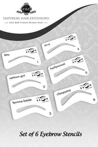 Set of 6 Professional Eyebrow Stencils